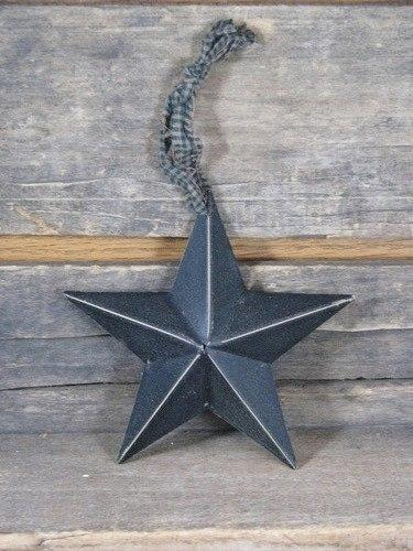 "5 1/2"" Black Barn Star - Primitive Star Quilt Shop"