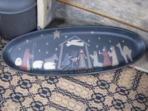 Christmas Nativity Tray
