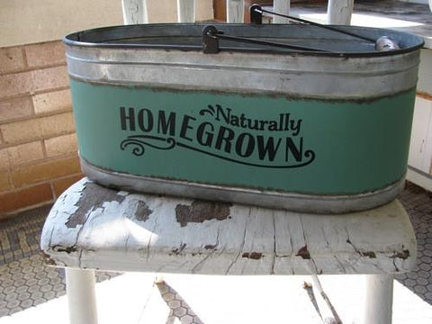 'Homegrown' Tin Bucket - Primitive Star Quilt Shop - 1