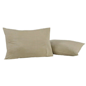 Prairie Winds Green Stripe Standard Pillow Case - Set of 2