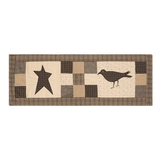 "Kettle Grove Crow and Star Runner 13x36"" - Primitive Star Quilt Shop"