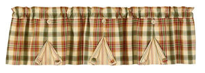 Lemon Pepper Pleated Button Lined Valance 60""