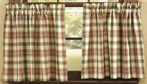 Lemon Pepper Unlined Tier Curtains 24""