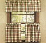 "Lemon Pepper Unlined Tier Curtains 24"" - Primitive Star Quilt Shop"