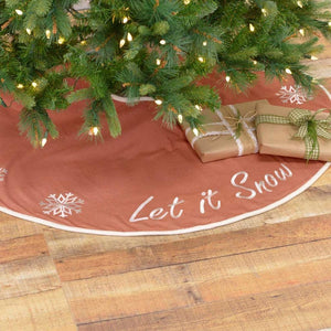 Let It Snow Mini Tree Skirt 21""
