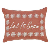 "Let It Snow Pillow 14x18"" Filled - Primitive Star Quilt Shop"