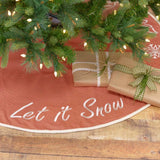 "Let It Snow Tree Skirt 48"" - Primitive Star Quilt Shop"