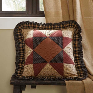 "Maisie Patchwork Pillow 18"" Filled"