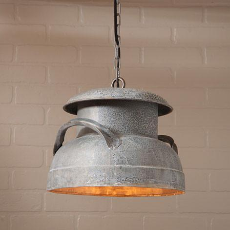Milk Can Zinc Pendant - Primitive Star Quilt Shop