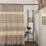 Mill Stripe Shower Curtain - Primitive Star Quilt Shop