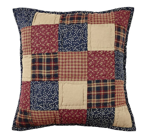 "Old Glory Quilted Pillow 16"" Filled - Primitive Star Quilt Shop"