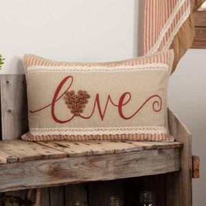 "Ozark Love Pillow 14x22"" Filled"