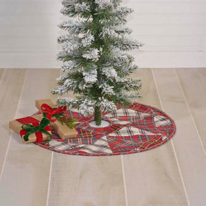 Peyton Patchwork Mini Tree Skirt 21""