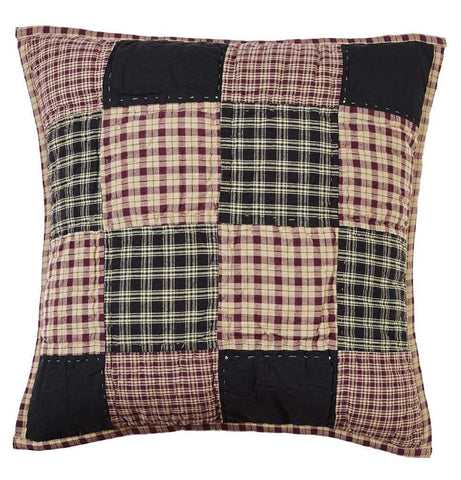 "Plum Creek Quilted Pillow 16"" Filled - Primitive Star Quilt Shop"