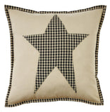 "Plymouth Star Fabric Pillow 16"" Filled - Primitive Star Quilt Shop"