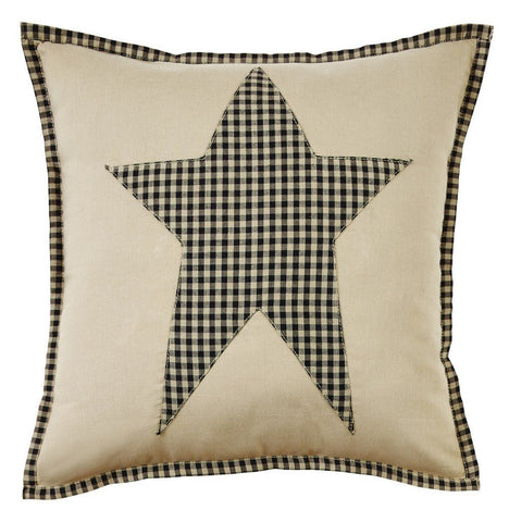 "Plymouth Star Fabric Pillow 16"" Filled"
