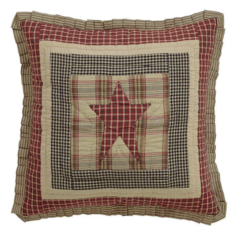"Plymouth Quilted Euro Sham 26x26"" - Primitive Star Quilt Shop"