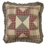 "Plymouth Quilted Pillow 16"" Filled - Primitive Star Quilt Shop"