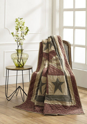 Plymouth Quilted Throw - Primitive Star Quilt Shop