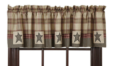 Plymouth Lined Valance - Primitive Star Quilt Shop