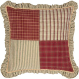 "Prairie Winds Patchwork Pillow 18"" Filled - Primitive Star Quilt Shop"