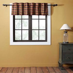 Heritage Farms Primitive Check Lined Valance 60""