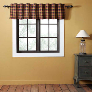 Heritage Farms Primitive Check Lined Valance 72""