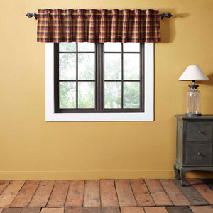 Heritage Farms Primitive Check Lined Valance 90""