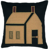 "Heritage Farms Primitive House Pillow 18"" Filled - Primitive Star Quilt Shop"