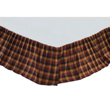Heritage Farms Primitive Check Bed Skirt - Primitive Star Quilt Shop
