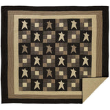 Primitive Star Quilt Luxury King Quilt- Primitive Star Quilt Shop