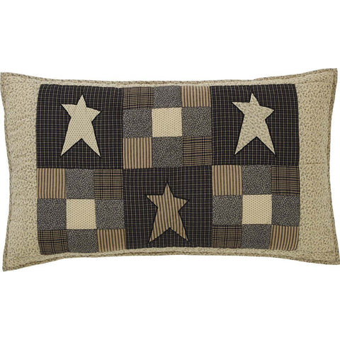 Primitive Star Quilted Luxury Sham 21x37""