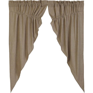 Primitive Star Lined Prairie Curtains 63""