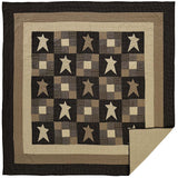 Primitive Star Quilt Queen Quilt- Primitive Star Quilt Shop