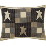 "Primitive Star Quilted Standard Sham 21x27"" - Primitive Star Quilt Shop"