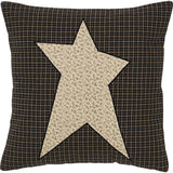 "Primitive Star Fabric Pillow 16"" Filled - Primitive Star Quilt Shop"