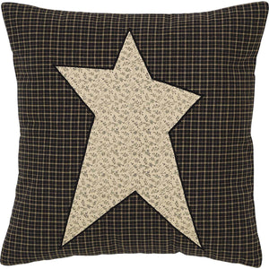 "Primitive Star Fabric Pillow 16"" Filled"