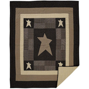 Primitive Star Quilted Throw