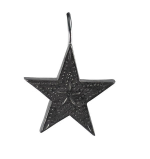 Punched Star Shower Curtain Hooks - Set of 12