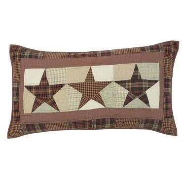 "Abilene Star Quilted Luxury Sham 21x37"" - Primitive Star Quilt Shop - 1"