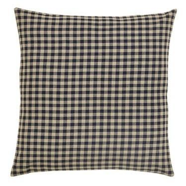 "Black Check Fabric Euro Sham 26x26"" - Primitive Star Quilt Shop - 1"