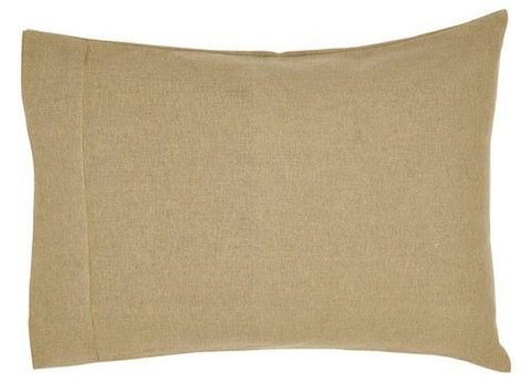 Burlap Natural Pillow Case - Set of 2 - Primitive Star Quilt Shop - 1