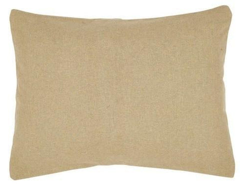 "Burlap Natural Standard Sham 21x27"" - Primitive Star Quilt Shop - 1"