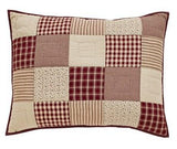 "Cheston Patchwork Quilted Standard Sham 21x27"" - Primitive Star Quilt Shop - 1"
