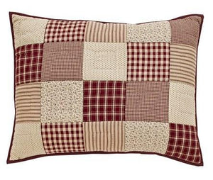 Cheston Patchwork Quilted Standard Sham 21x27""
