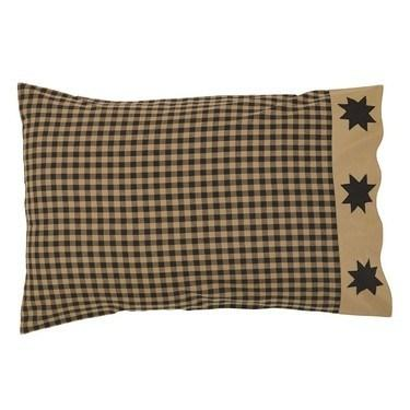 Dakota Star Pillow Case - Set of 2 - Primitive Star Quilt Shop