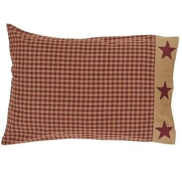 Ninepatch Star Pillow Case - Set of 2 - Primitive Star Quilt Shop