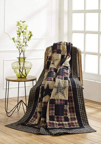 Revere Quilted Throw - Primitive Star Quilt Shop