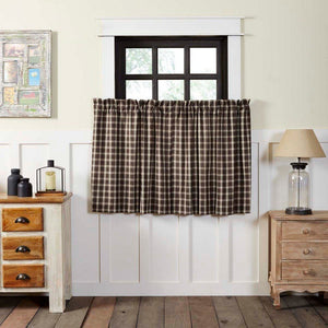 Rory Lined Tier Curtains 36""