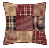"Rutherford Quilted Pillow 16"" Filled - Primitive Star Quilt Shop"
